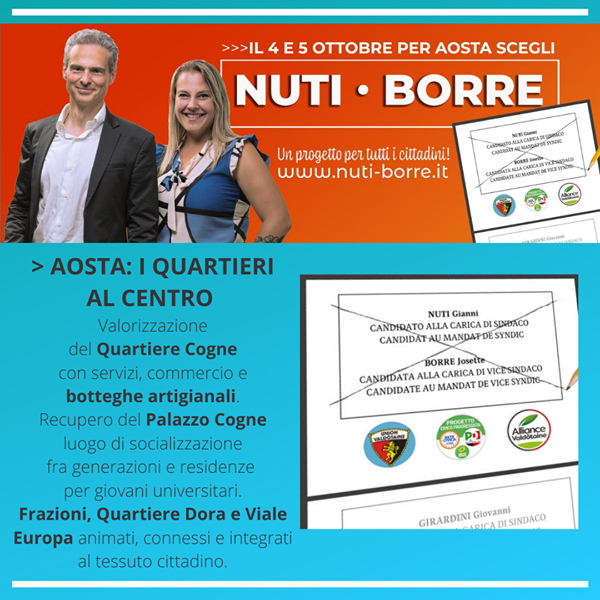 Aosta: I quartieri al centro